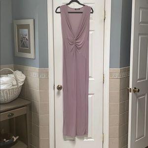 Romantic Mauve Polyester Dress